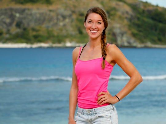 "Morgan Ricke was the third person voted off ""Survivor: Ghost Island."""