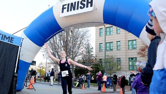 Kate Schwartz of Asheville was the female winner of
