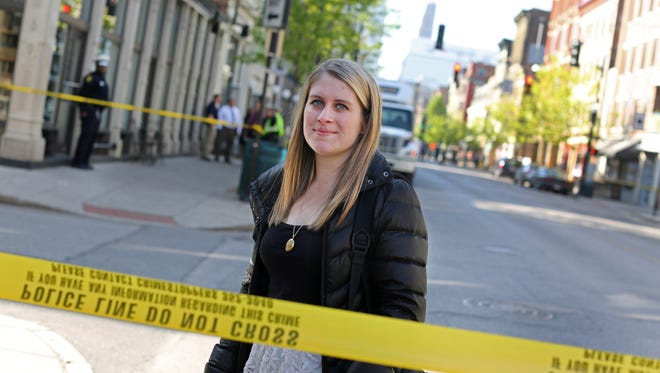 Emilie Eaton, Enquirer reporter, witnessed a fatal shooting on Vine Street, near the Mercer in Over-The-Rhine Wednesday morning.
