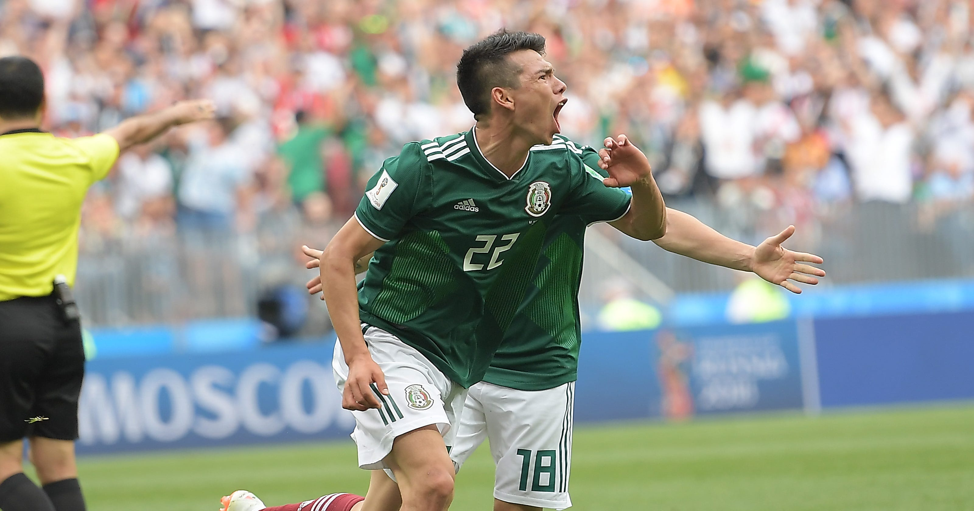 6e0be8f6025 World Cup 2018  Hirving Lozano gives Mexico lead vs. Germany