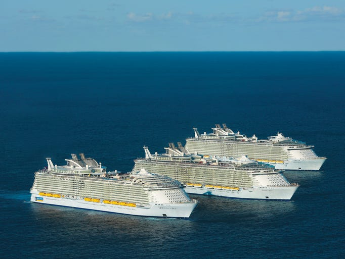 As the largest cruise ships in the world, it's no wonder
