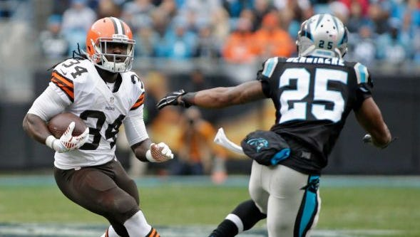 Former Alabama State star Isaiah Crowell now leads the Cleveland Browns in rushing with 601 rushing yards.