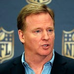 NFL Commissioner Roger Goodell addressed sports editors on Friday in New York.