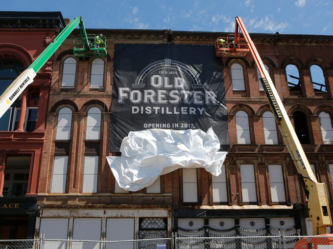 A banner was unveiled at the site of the Old Forrester