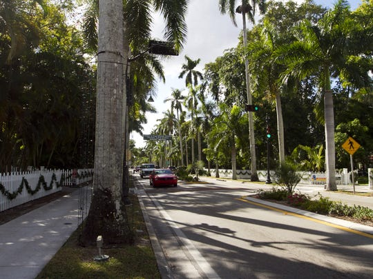 When McGregor Boulevard was completed in 1915, it was the only hard-surfaced road in Fort Myers.