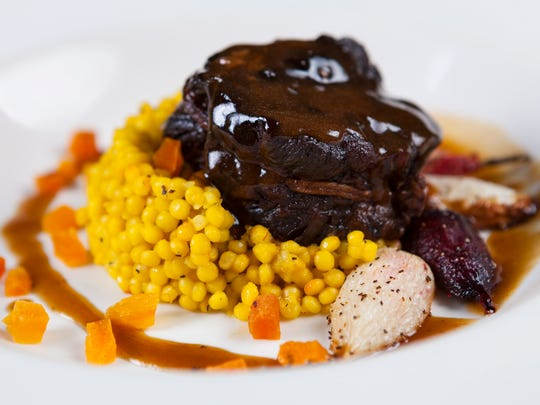 At Fantasies in Chocolate, braised short ribs are the main course at the VIIP dinner. VIP ticketholders can enter the event two hours before general admission.
