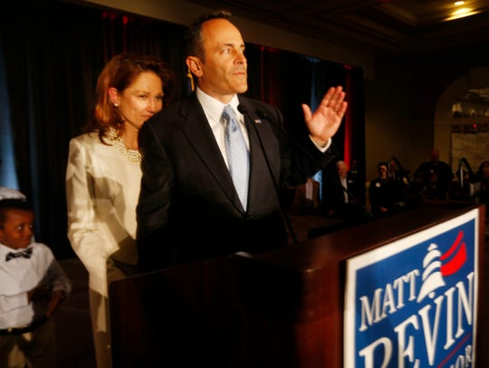 Governor-elect Matt Bevin made his victory speech.
