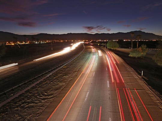 Interstate 10 as seen from the Monroe Street overpass on Nov. 8, 2015.