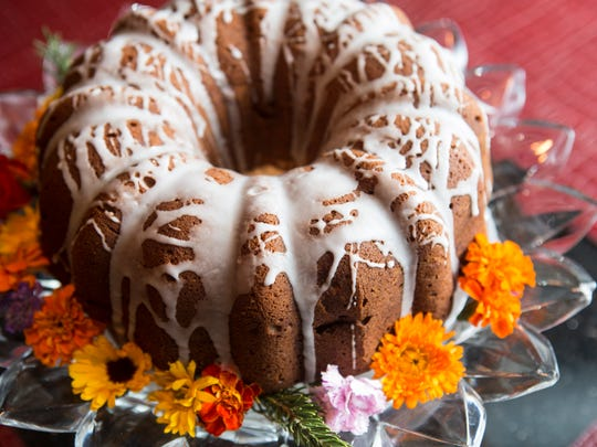 The sweet potato and apple pound cake with orange sugar glaze at Marketplace Restaurant located at 651 S. Fourth Street Nov. 11, 2015