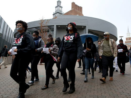 The protest was part of #StudentBlackout, a national