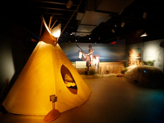 Part of the Lewis and Clark exhibit at the Frazier