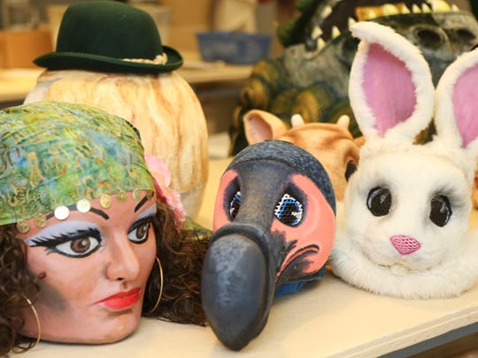 Masks created by costume crafts artisan Allison Anderson for the Louisville Ballet.