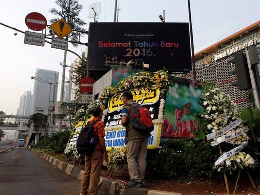 EPA INDONESIA JAKARTA BOMB BLAST WAR ACTS OF TERROR IDN