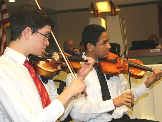 The Harmonic Strings Chamber Group performed at City Council on Tuesday and hopes to keep performing for community events.