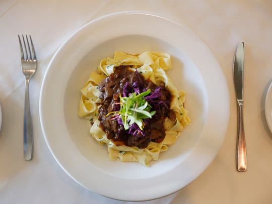 The beef bourguignon with noodles at Lilly's Bistro.
