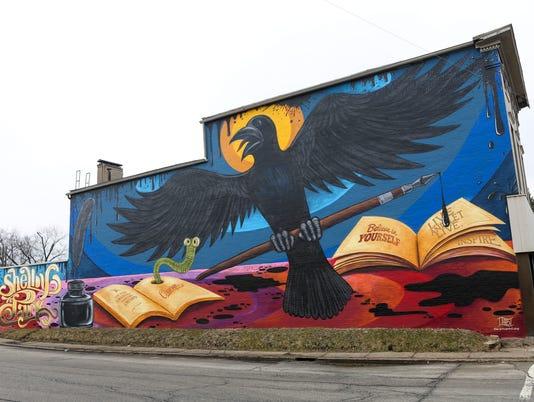 Crow mural