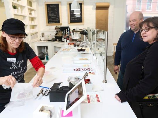 Scarlet's Bakery employee Regina Cook-Pfeiffer, from