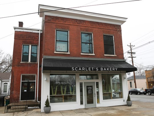 The storefront of Scarlet's Bakery in the Shelby Park