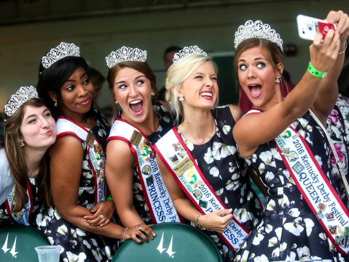 The 2016 Kentucky Derby Festival Princesses take a
