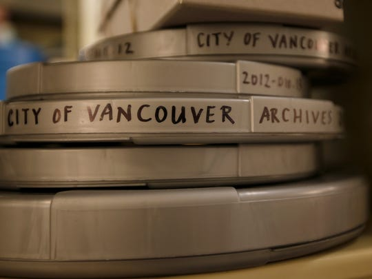 Archive film from the City of Vancouver that will be converted into digital files.