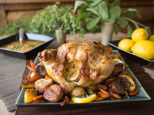 This herb-roasted chicken by Rhona Kamar of Ramsi's Cafe is the star of dinner one night while Moroccan chicken soup stands in for a meal later in the week.  May 26, 2016