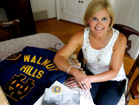 Julie Phillippi Whitney of College Hill with memorabilia