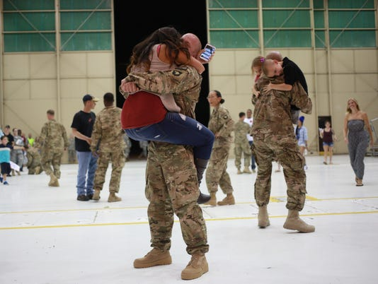 101st Airborne Troops Return To Fort Campbell From Afghanistan