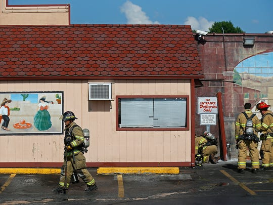 Firefighters responded to a small fire at Mexican Villa West on Sunshine Street and Fort Avenue in Springfield, Mo. on July 18, 2016.