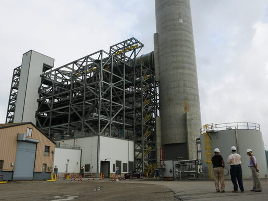 """An overview of the scrubber facility and """"bag house"""" at the Mill Creek Generating Station on the Dixie Highway. in 2015. Updates and the additions of bags which act as emission filters at Mill Creek have been reported to have reduced emissions, including particulates, 64 percent from 2010-2015. Aug. 18, 2016"""