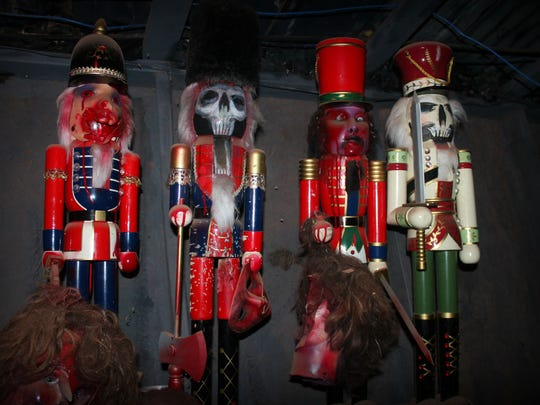 Gory and creepy nutcrackers await visitors inside Horror Hall.