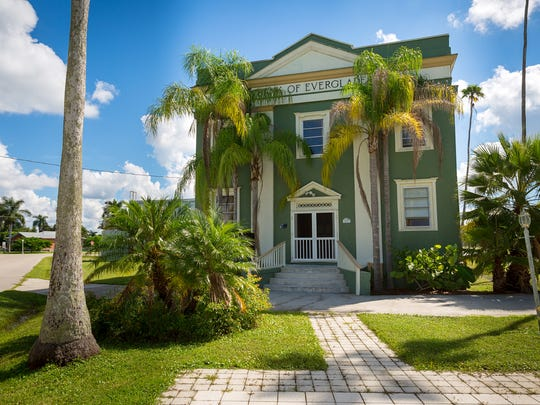 The Bank of Everglades building in Everglades City on Thursday, Sept. 22, 2016.