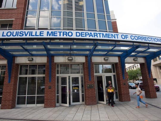Outside of Louisville Metro Department of Corrections
