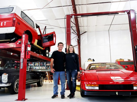 Owners Heather and Eric Krukow at their business, F1