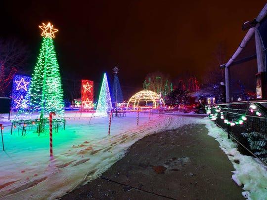 The Marshfield Rotary Winter Wonderland displays a