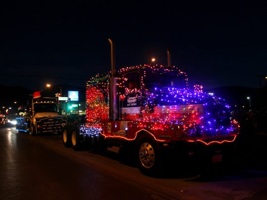 Southwest Landscape shines bright during the annual Christmas parade.
