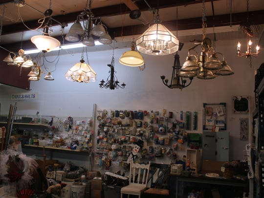 Light fixtures hang in White Sands Habitat for Humanity's ReStore, which also raises money for local projects. ReStore, 1109 10th St., is open from 9 a.m. to 1 p.m. Wednesday through Saturday.