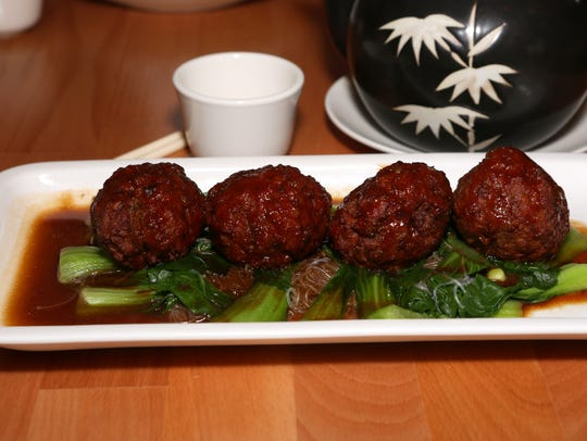 Shanghai meatballs at T.S. Ma.