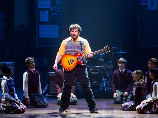 Alex Brightman and the kids of School of Rock - The Musical
