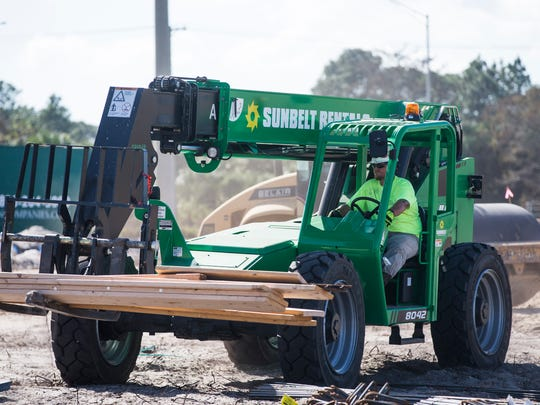 The construction site of a new charter school from Charter Schools USA on Immokalee Road near Eighth Street NW in Naples on Tuesday, Dec. 20, 2016.