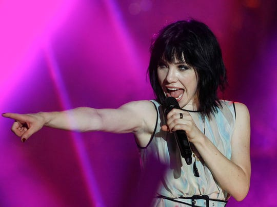 Carly Rae Jepsen performs at the MTV World Stage Live