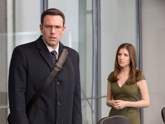 Ben Affleck, left, and Anna Kendrick appear in a scene