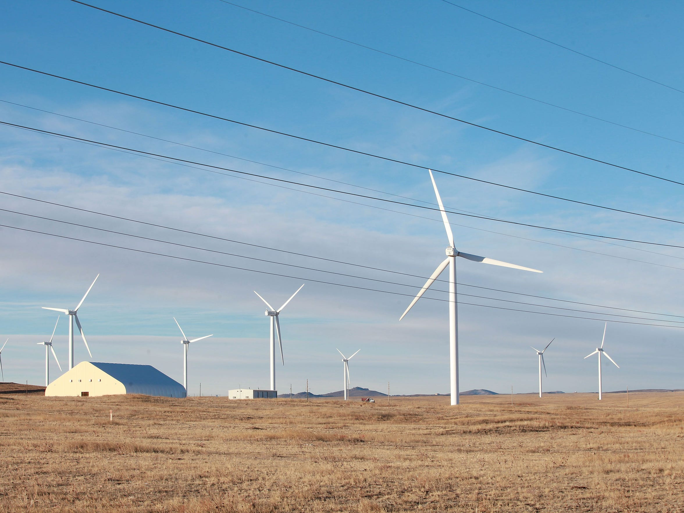 Duke Energy's Happy Jack wind farm near Cheyenne, Wyoming