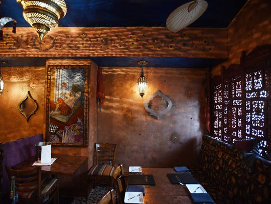 The Moroccan Room at Café Matisse in Rutherford.