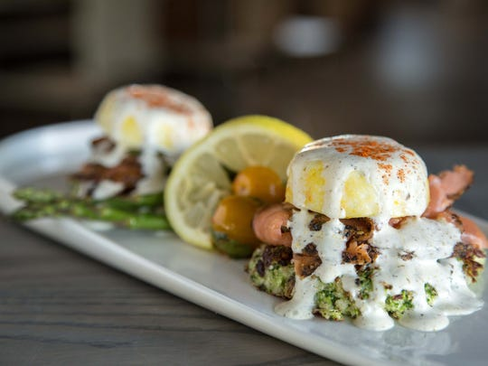The smoked salmon eggs benedict from Breakfast Kitchen Bar at Scottsdale Quarter.