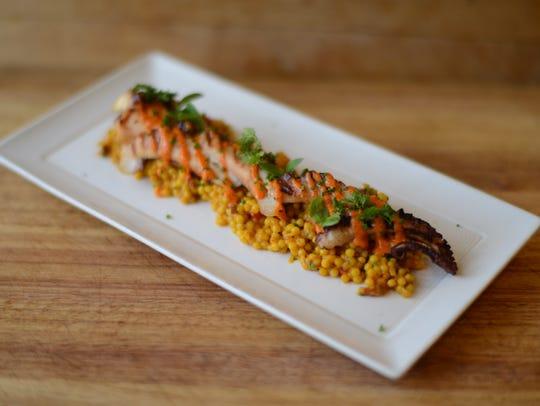 HO-HO-KUS INN:  Grilled marinated octopus; toasted