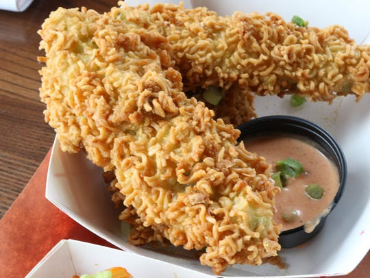Ramen fried pickles at Kimchi Smoke in Westwood.