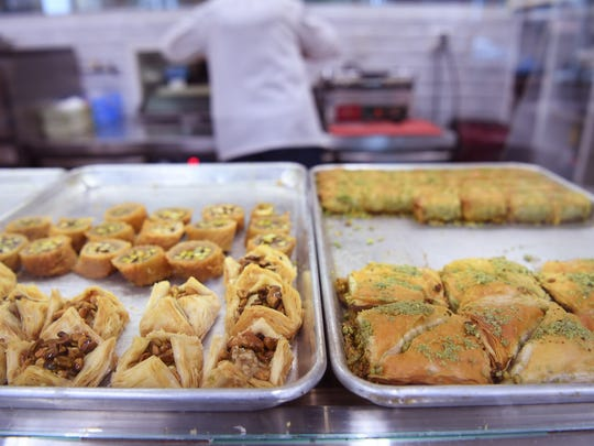 Baklava at Arenie in Cliffside Park on Tuesday, April, 25, 2017.