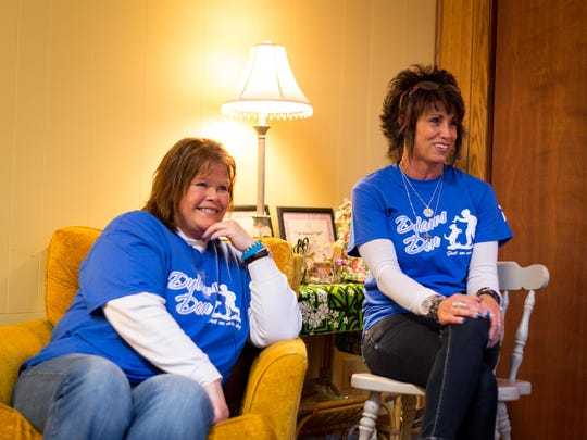 Mandy Krejci, left, and Suzi Breit, right, speak during an interview on April 10, 2017 about Dylan's Den, a safe-haven for kids who are struggling or need to get away from bullying. Dylan's Den opened in memory of Breit's son, Dylan Kell, who committed suicide.