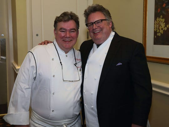 Chefs Peter Kelly (left) and David Burke