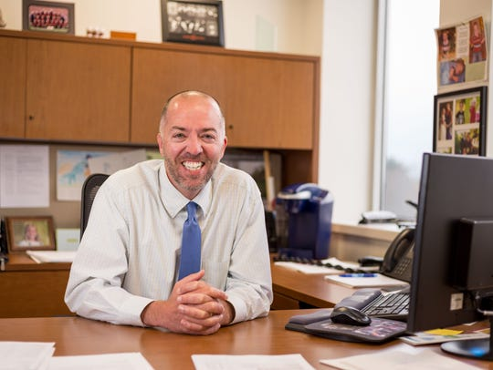 Jason Angell, development services director, smiles